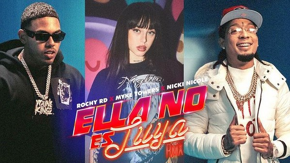 Rochy RD x Myke Towers x Nicki Nicole - Ella No Es Tuya (Remix).mp3